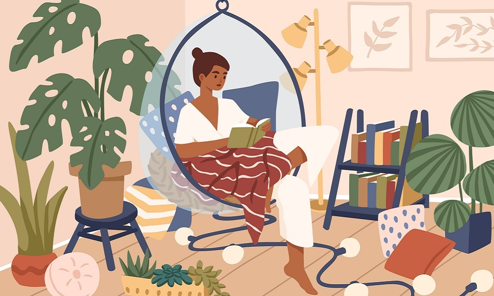 Adults engaging in reading for pleasure