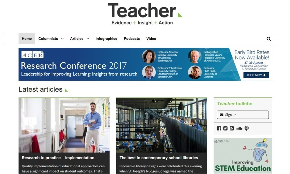 Welcome to the new-look Teacher website