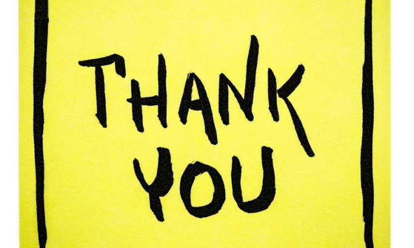 Teacher says thank you