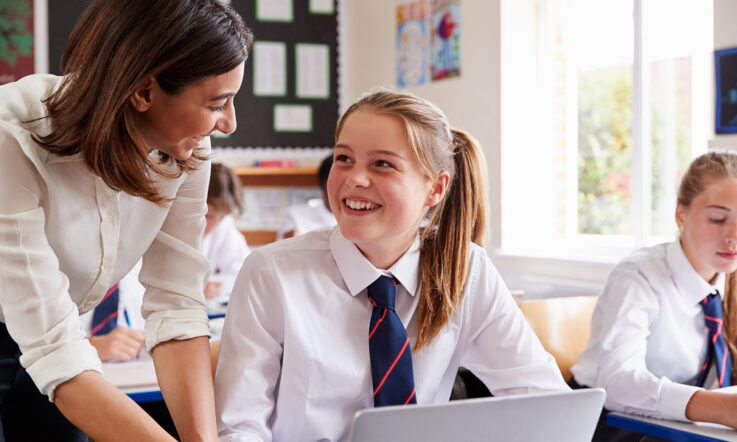 Teacher support reduces girls' disengagement in high school