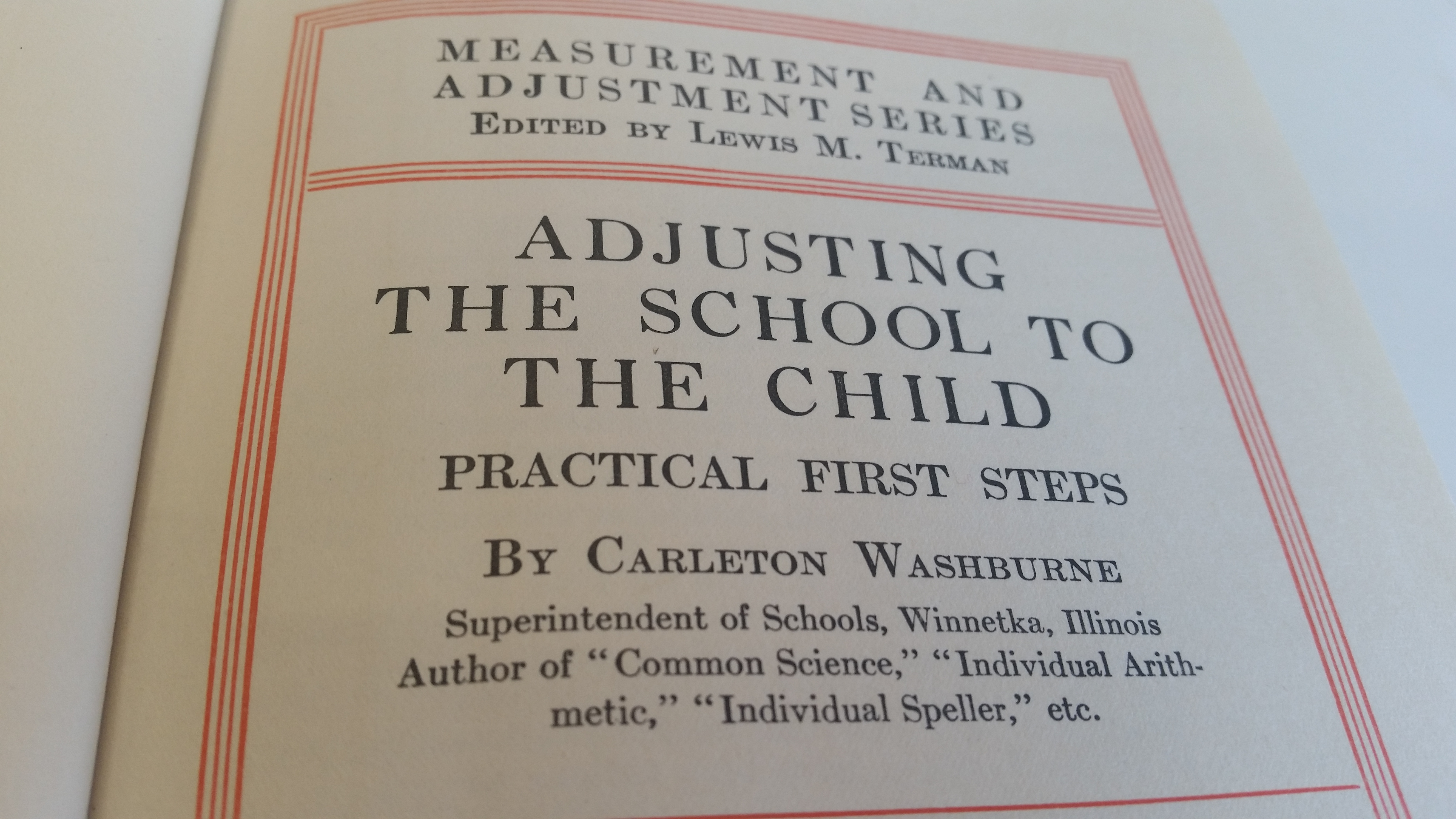 Adjusting the school to the child