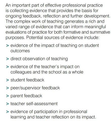 Figure 1: The Australian Teacher Performance and Development Framework, August 2012