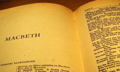 An image of a book page from the play Macbeth