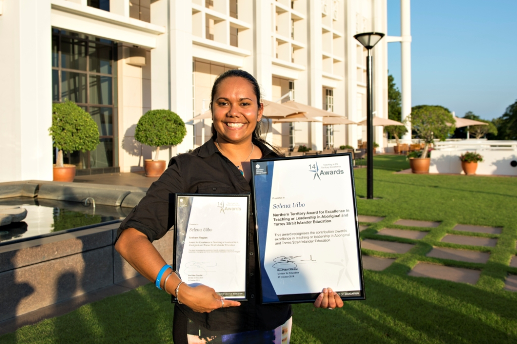 Selena Uibo was awarded Northern Territory Teacher of the Year for her region in 2014.