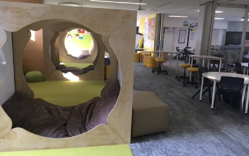 The new staffroom at Macgregor Primary School