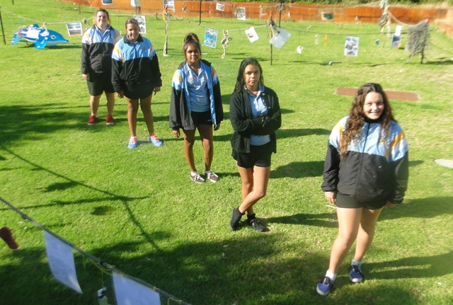 Students from the Indigenous Yorgas Sports Academy at Newton Moore Senior High School.