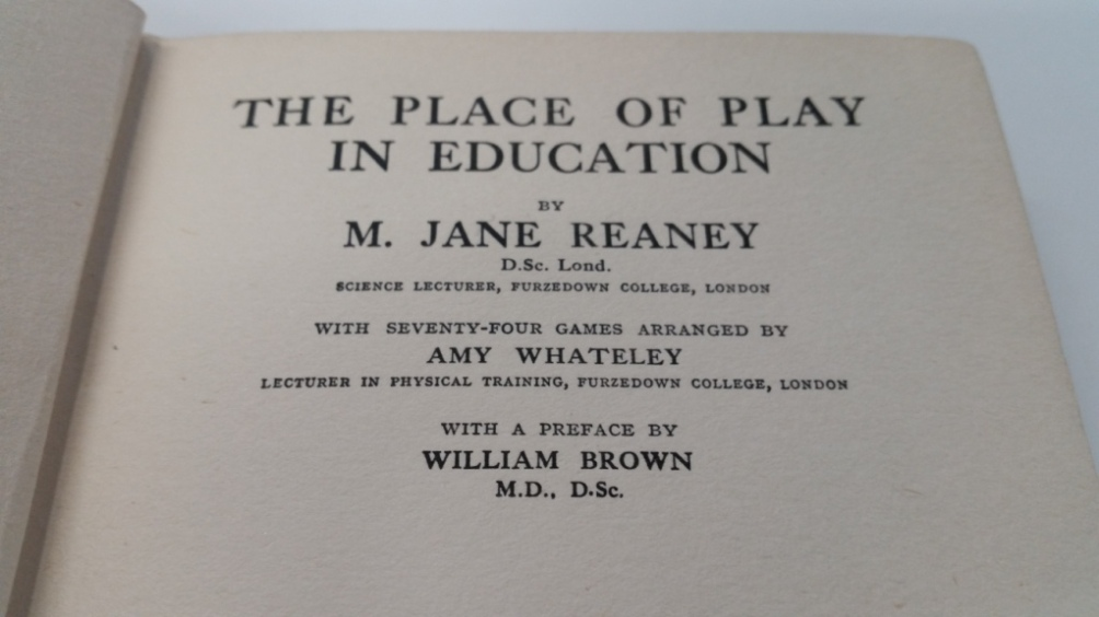 The place of play in education.