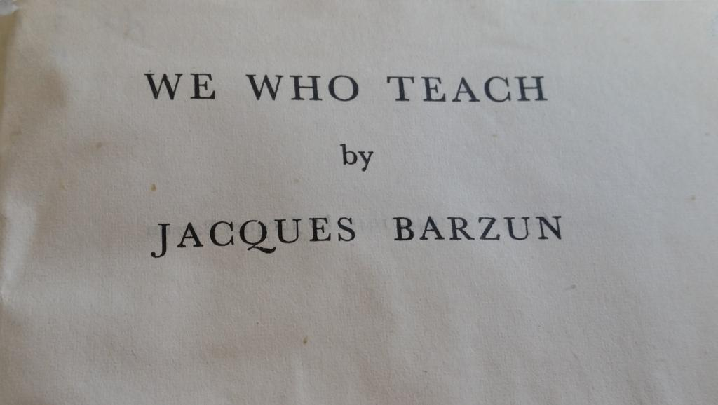 We who teach.
