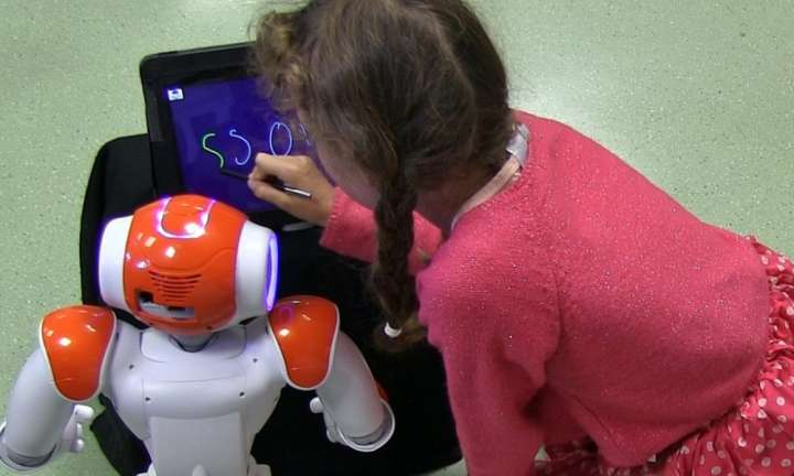 Learning by teaching ... a robot